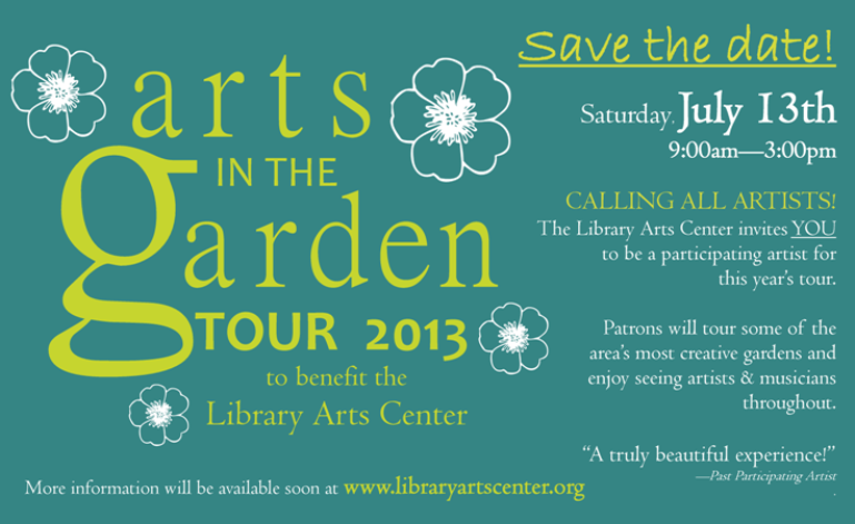 Garden Tour Call for Artists CC 2013