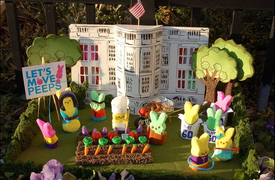 "Another clever diorama from the Washinton Post's contest: ""The White House Garden"""