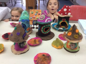 Felted Birdhouse Three