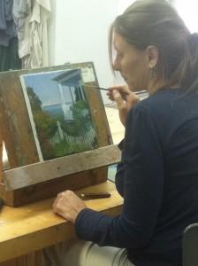 Heidi Painting in Studio
