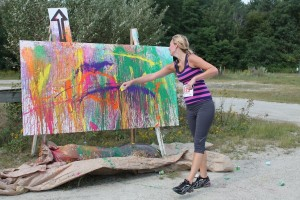 5K participants enjoyed contributing to large-scale art pieces along the 5K route.