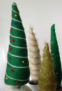Needle Felted Holiday Trees