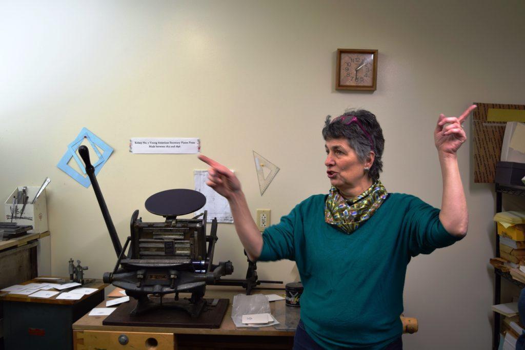 Ann St. Martin Stout discusses the Studio's new Letterpress
