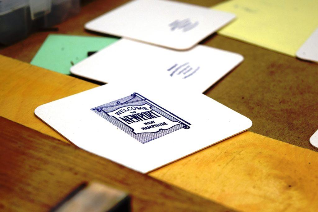 Coaster created in the LAC Letterpress Studio