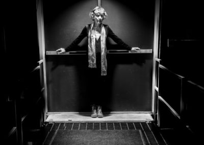 Carol Van Loon - And There Was Light - Photograph - B&W Self Portrait
