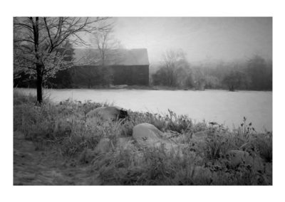 Richard Stockwell - Winter Barn - Photograph