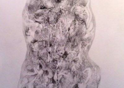 Rick Hearn - Two Potato - Graphite Drawing