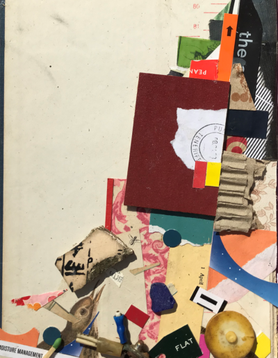 Rod Boyer - The Opposite of Entropy is God - Mixed Media Collage - $150