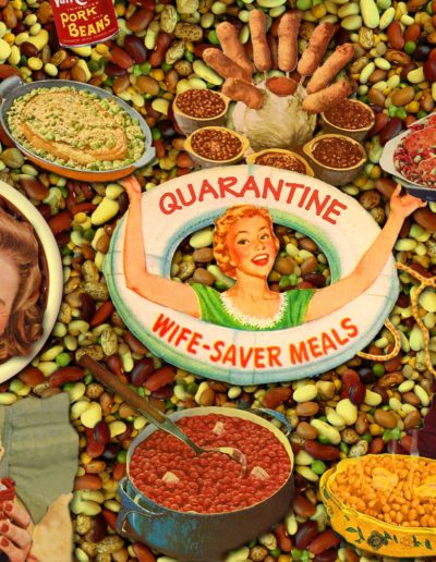 Donna Catanzaro - Quarantine Wife-Saver Meals - Digital Collage - $200