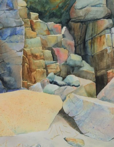 Don Collins - Reid State Park Series, Stacked #1 - Watercolor - $825