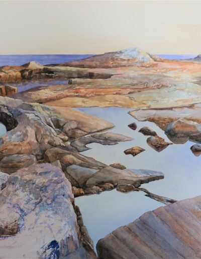 Don Collins - Reid State Park Series, Upper Tide Pool - Watercolor - $4000