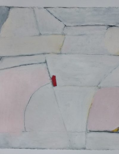 Christine R. Hawkins - House of Cards - Oil on Paper - $900