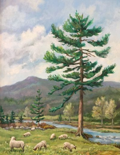 Thomas Kelley - Croydon Mountain Flock - Oil- $600