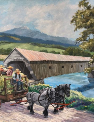 Thomas Kelley - Hauling Hay in Cornish - Oil- $2,400