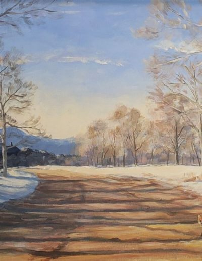 Tristan MacDonald - Winter Visitor - Acrylic - $900