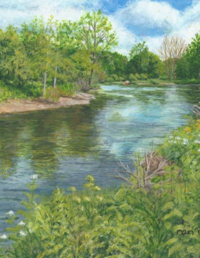 Nan McCarthy- Spring Morning on the River - Acrylic - $150