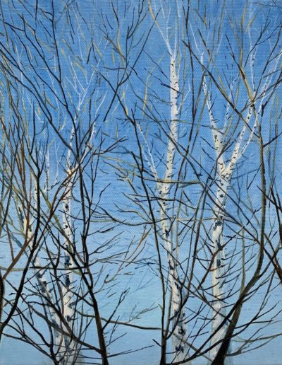 Sharon Morrison- Blue Interrupted - Oil - $1500
