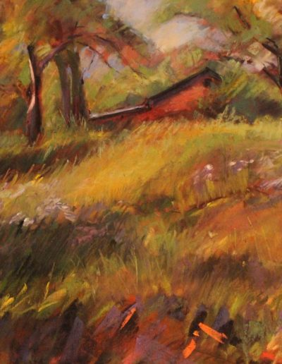 Christinne Reid - Harvest, Before the Cut - Pastel - $1,050