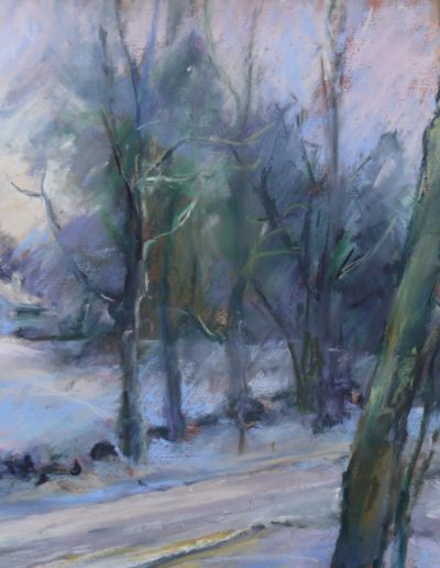 Christinne Reid - Winter Light - Pastel - $385