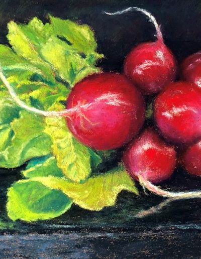 Gill Truslow- Juicy Reds - Pastel - $350