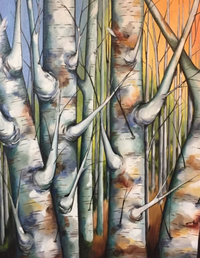 Anne Ward - Bunch of Birches - Oil - $1,800