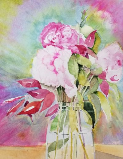 Patti Warren - Rosalie's Birthday Peonies - Watercolor - $250
