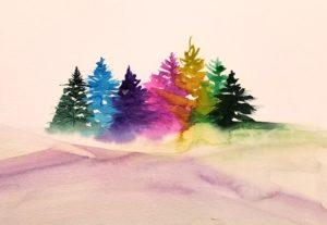 Winter Watercolor Trifecta